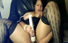 Curvy Latina masturbating on webcam