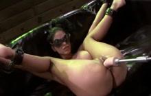 Jasmine Caro hard bondage fuck