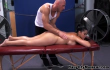 Diamond Kitty assfucked by a masseur