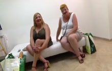 Latina BBW matures on a blind date