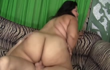 Karla Lane sits on a fat dick