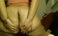 Enormous Latin whore bends over on webcam